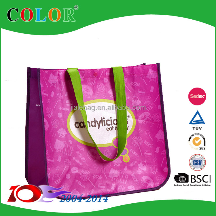 CMYK printing pp bag, pp lamianted bag,pp non woven bag