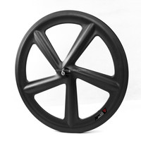 2015 YISHUNBIKE 700c Road Bike Track Wheels 5 Spoke Fixed Gear Bicycle Carbon Wheel Manufactory FIVE-SPOKE-C-F
