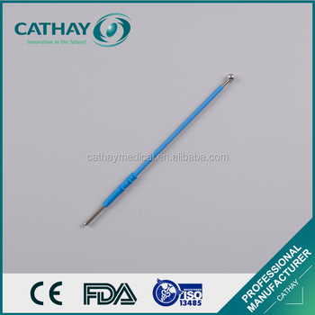Different size electrosurgical spherical electrode needle for cutting and coagulation