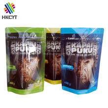 Plastic zipper top recyclable food packaging bag pouch