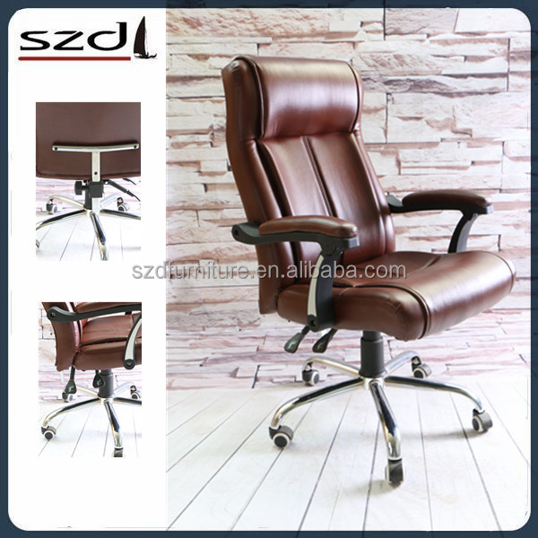 High back black luxury leather emes office chair for office SD-5127