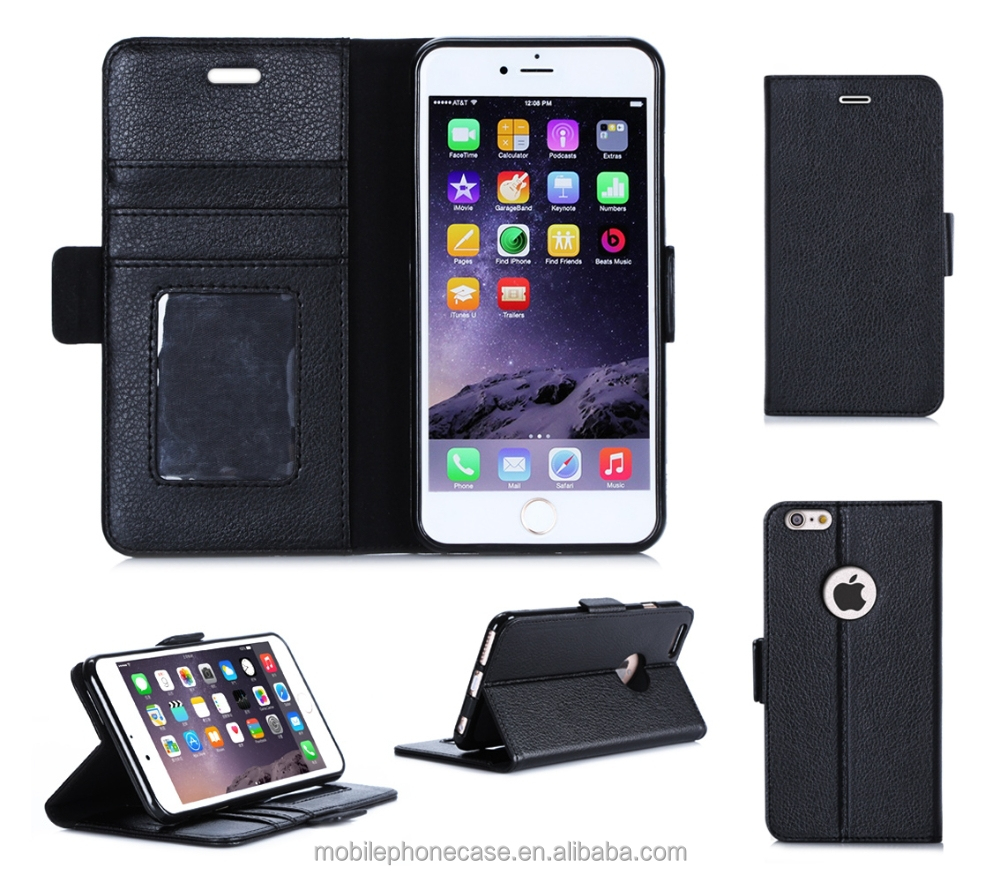 Guangzhou Wholesale Funky Design High Quality Premium PU Leather Phone Case For Apple iphone 6 5.5inch