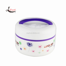 Round plastic food warmer lunch box with handle