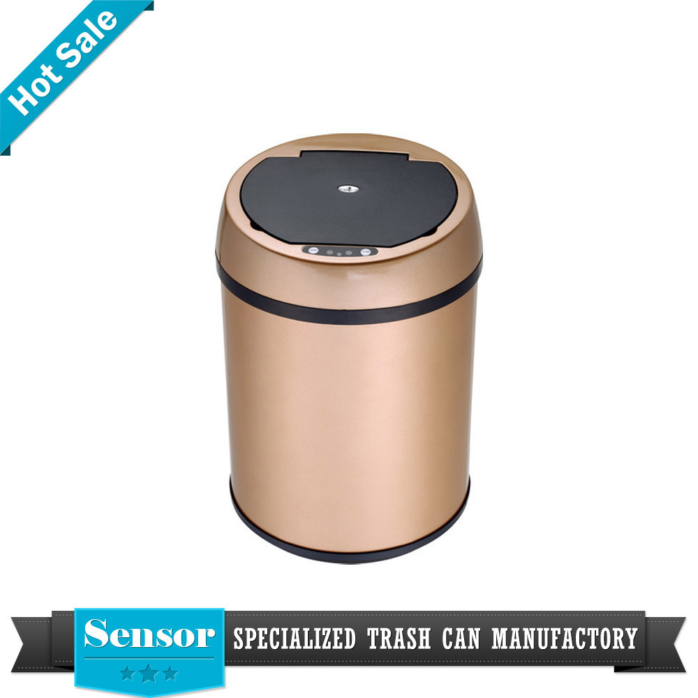 small paper recycling waste bin bathroom sensor infrared trash can