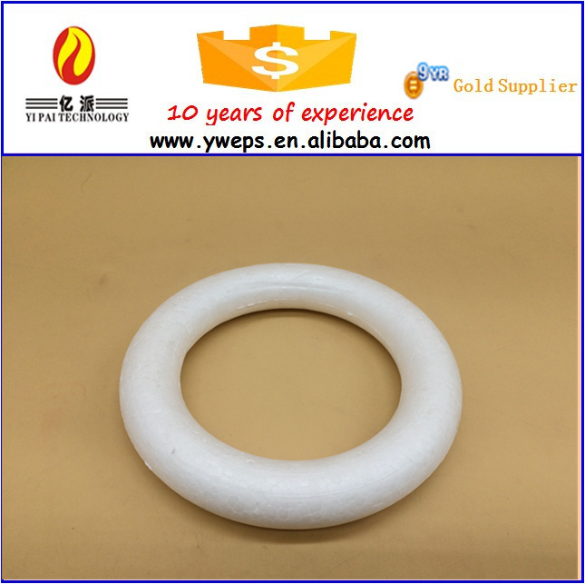 Wholesale polystyrene wreath ring/artificial wreath for decoration
