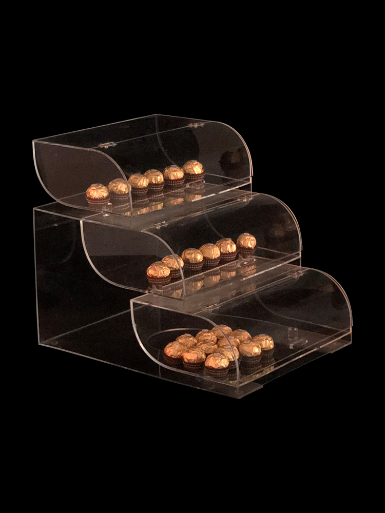 Acryl box Bäckerei display-ständer supermarkt rack kuchen brot