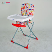 Fashion Design High Baby Chair Dining Chair With Large Dinning Tray