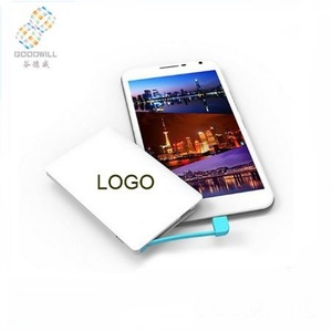 Manufacturer Free sample 2600mah credit card power bank with custom logo