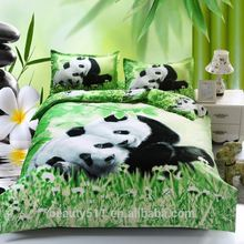 Baby panda bed large 3d four-piece three-dimensional handmade Indian Embroidery Bed Sheets, Indian Embroidery Bedspread BS47