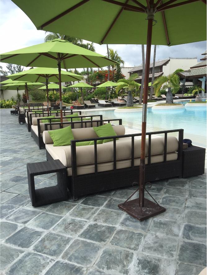 Cama al aire libre muebles de jardín de ratán 2-Seater Sun bed ...