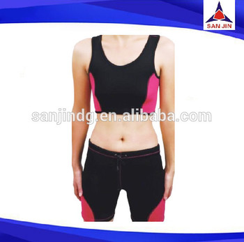 neoprene gym women three-quarter pants body building
