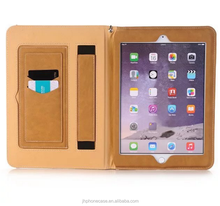 High quality soft PU leather card holder stand case for iPad Pro 10.5 pouch bag with hand belt