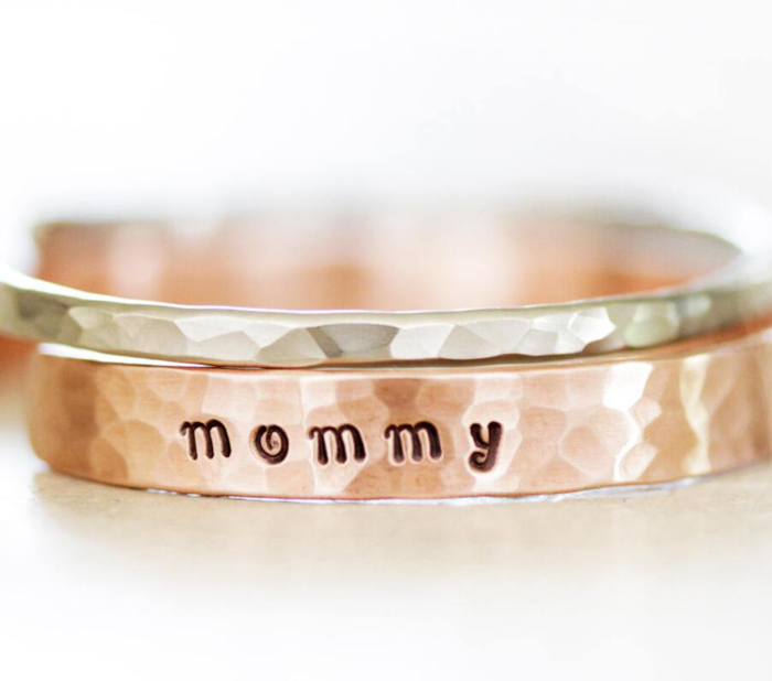Wholesale Personalized Rustic Jewelry Gold Engraved Mantra Hammered Cuff Bracelet