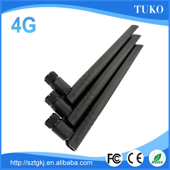 Newest model 5dBi 200mm length omni directional rubber duck 4G LTE antenna