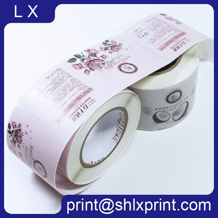 Custom Printed bottle packing label sticker