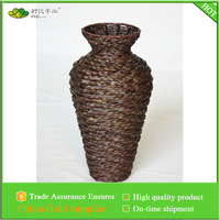 rush braid woven decorative vase