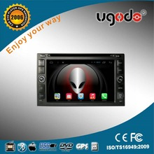 "ugode 6.2"" Quad core Android 4.4 up to android 5.1 double din universal Car DVD stereo with3g wifi DAB+radio"