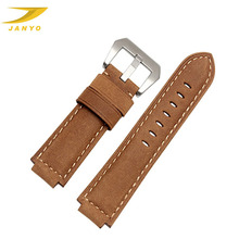 Waterproof genuine leather watch strap wrist leather watch band