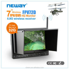 Support TF Card High definition in 7 inch HD-MI LCD Monitor for Wireless CCTV system