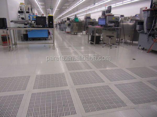 Clean Room Raised Floor : Cast aluminum raised access flooring for ventilatoin floor