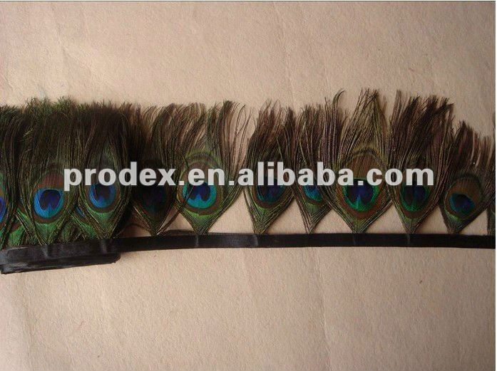 Peacock Feather Fringe peacock feather trimming feather dresses short tassel
