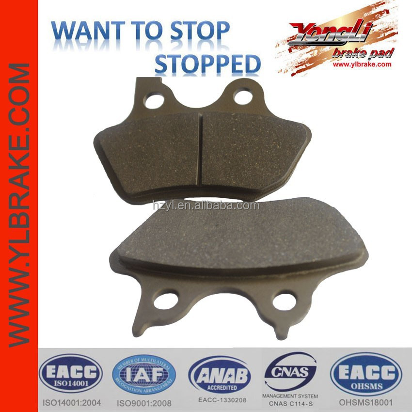 Superior racing brake pads for harley davidson
