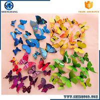 Christmas 3d butterfly Self adhesive Stickers Wall Decal sticker