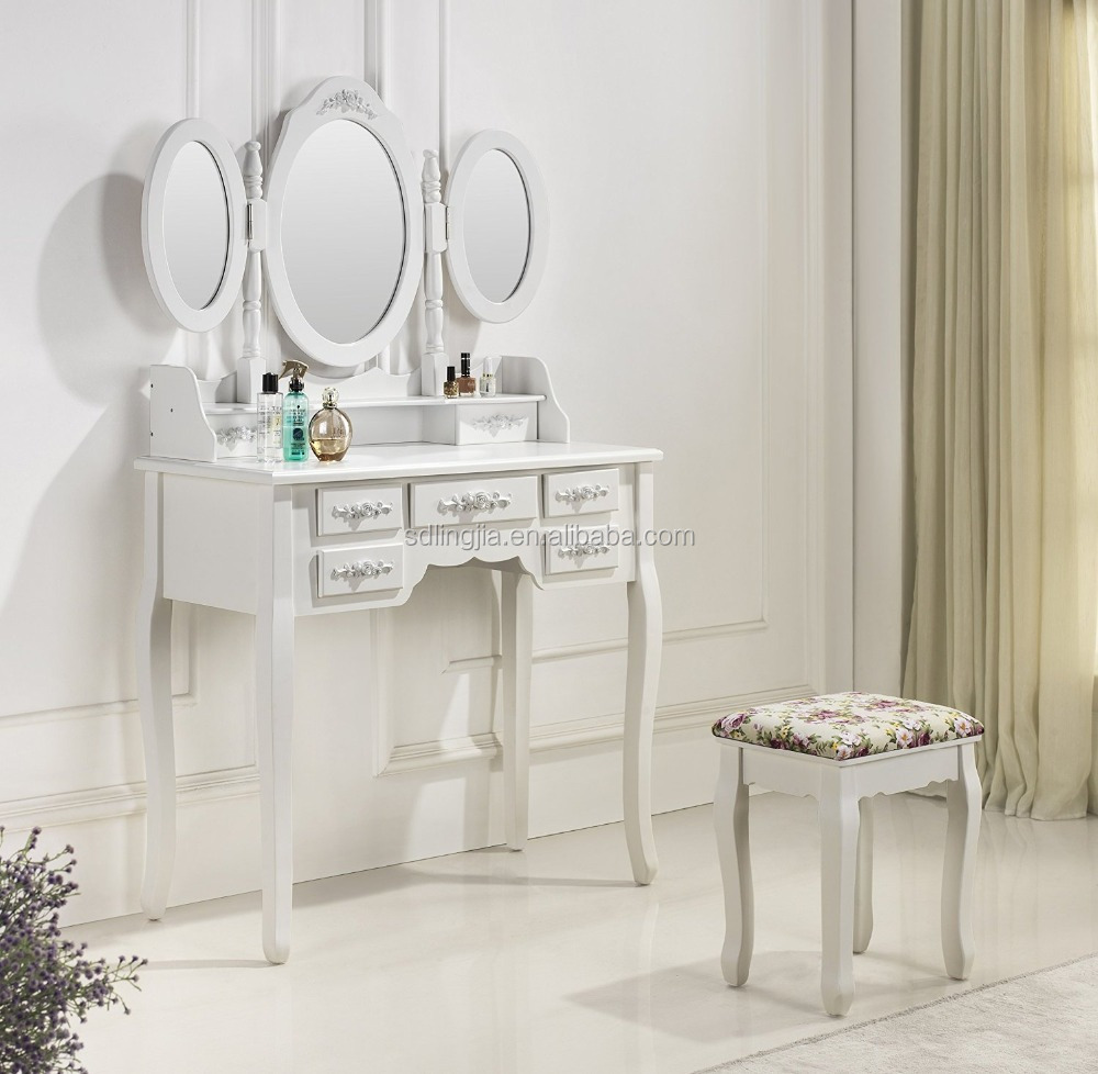 Handmade Wood Simple Dressing Table Antique Dressers With Mirrors