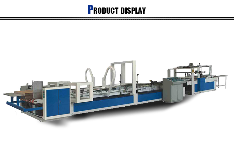 Corrugated Paper Box Automatic Folder Gluer / Folding Gluing machine for carton boxs