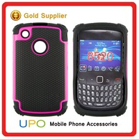 [UPO] Fashionable Cute Combo Hybrid Armor Plastic Silicon Phone Case for Blackberry 8520