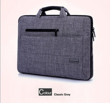 Laptop bags for unisex Waterproof Nylon portable laptop trolley bags with PU leather portable