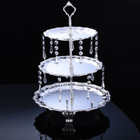 Wholesale Fashion crystal 3120 fall cupcake cake dessert plate dessert rack fruit plate