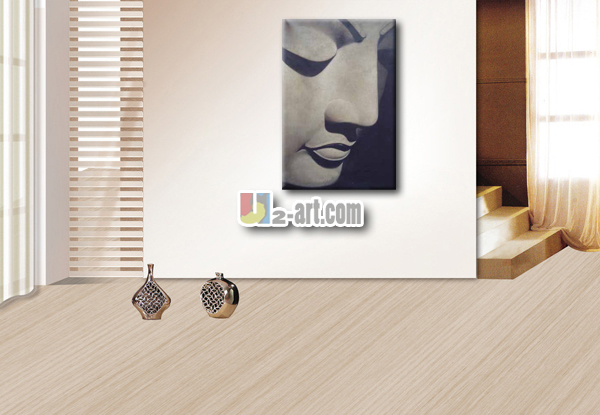 Modern decorative pictures buddha face painting for wall decoration