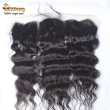7a grade unprocessed free shipping virgin peruvian closure loose wave lace frontal closure 13*4