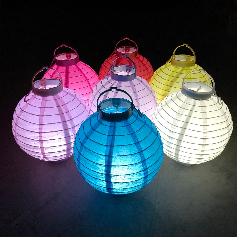 Wedding Decorative Battery Operated Led Light Chinese Paper Lanterns