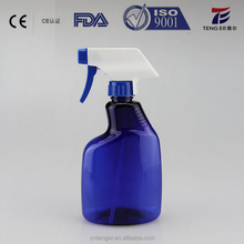 500ml, 600ml HDPE empty Washing Detergent Liquid Plastic Spray Bottle in Shenzhen Factory