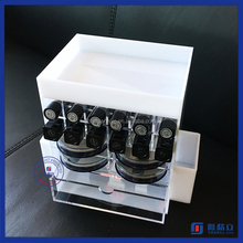 display acrylic cosmetic organizer lipstick jewelry holder wholesale plastic containers