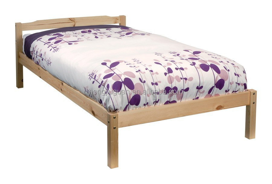 Single Wooden Bed Frame Eleanor High Foot End 3ft Single