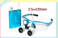 2.5X 3.5X magnification Dentist Surgical Medical Binocular Dental Loupes with LED HeadLight Lamp