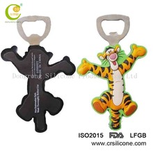 OEM/ODM silicone open beer bottle with fridge magnet for various design