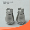 130ml glass salt&pepper bottle set with stainless coating