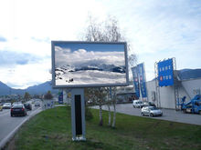 6500 CD / m2 960 *960 mm Outdoor Advertising LED Display Screen Energy saving