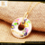stainless steel jewerly set oil plated round colorful jewelry with good customer service
