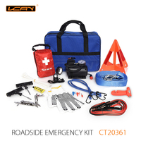 40pcs Car road safty Emergency Tool Kits warning triangle auto repair kit tools for wholesale