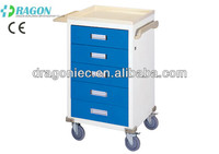 DW-AC214 hospital crash cart medical trolley hospital cart stainless steel trolley cart for hot sale