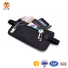 hot selling high quality waterproof travel money belt RFID hidden wallet belt waist bag