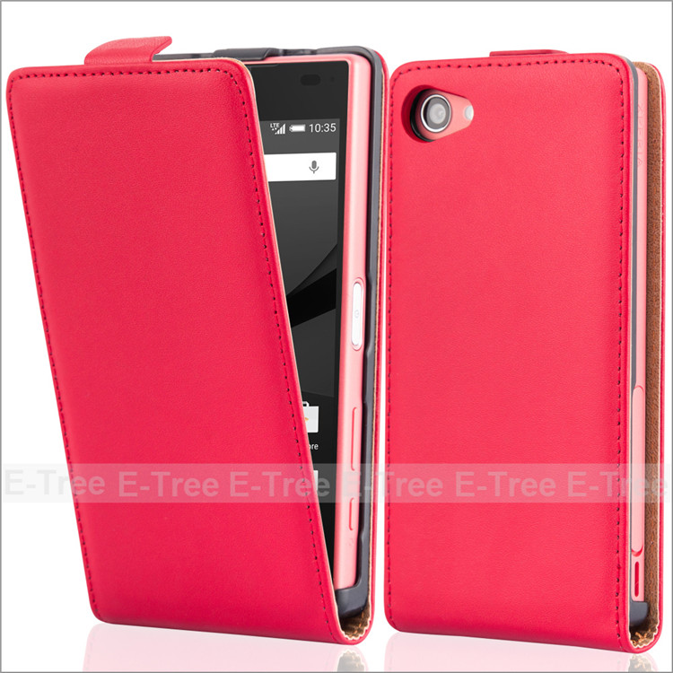 For Sony Z5 Compact/Mini Genuine Flip Leather Magnetic Phone Case