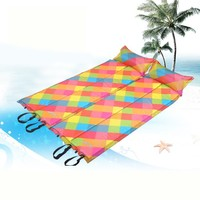 Easy Deflate Foldable Camping Mat Joinable Inflatable Lilo