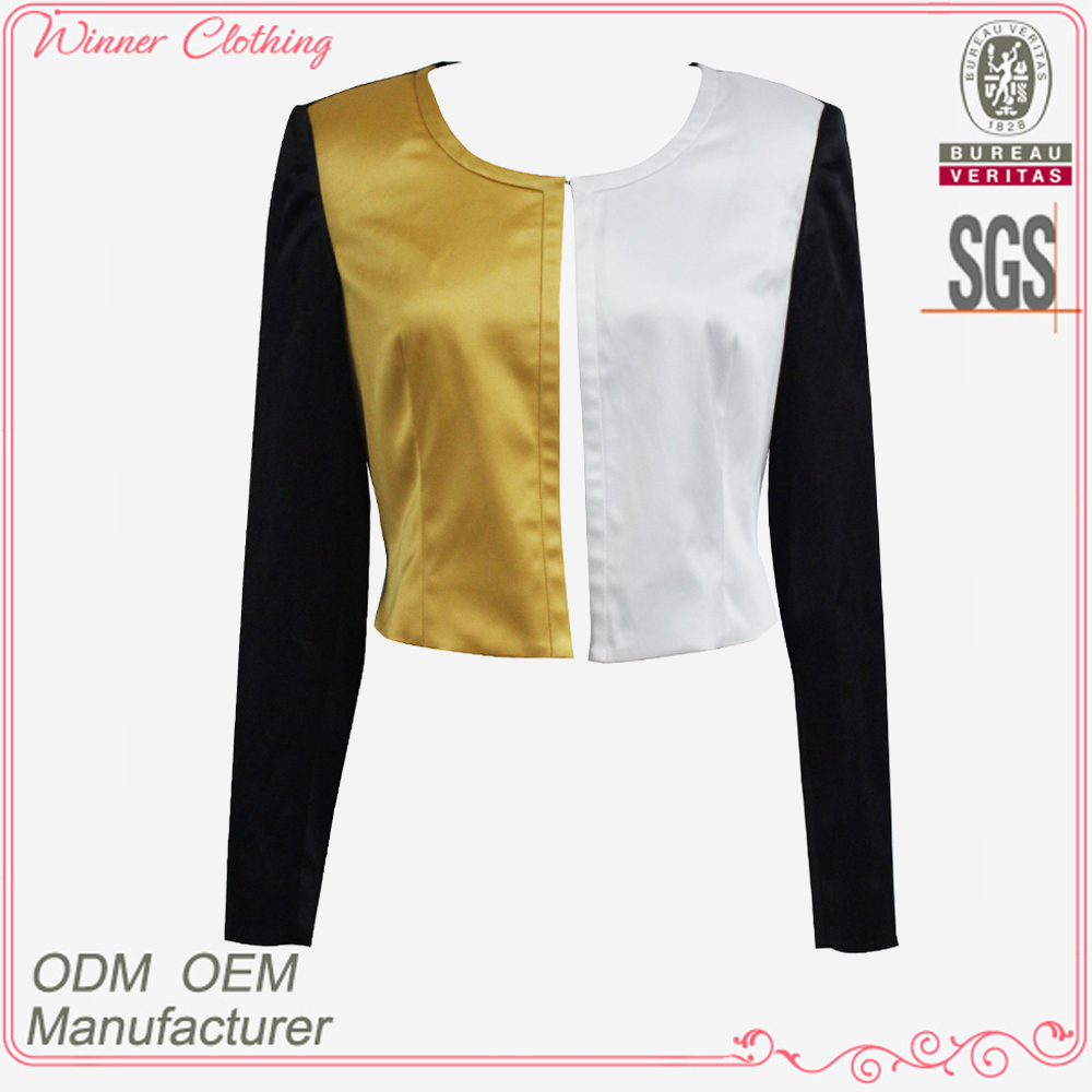 Ladies fashion garment OEM / ODM latest designed custom varsity jackets