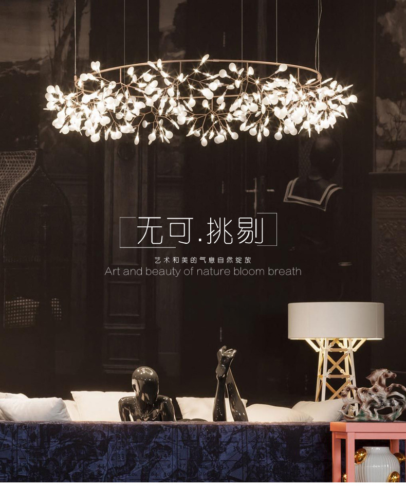 Creative LED G9 Acrylic hanging lamp ART beauty pendant light for villa 6043